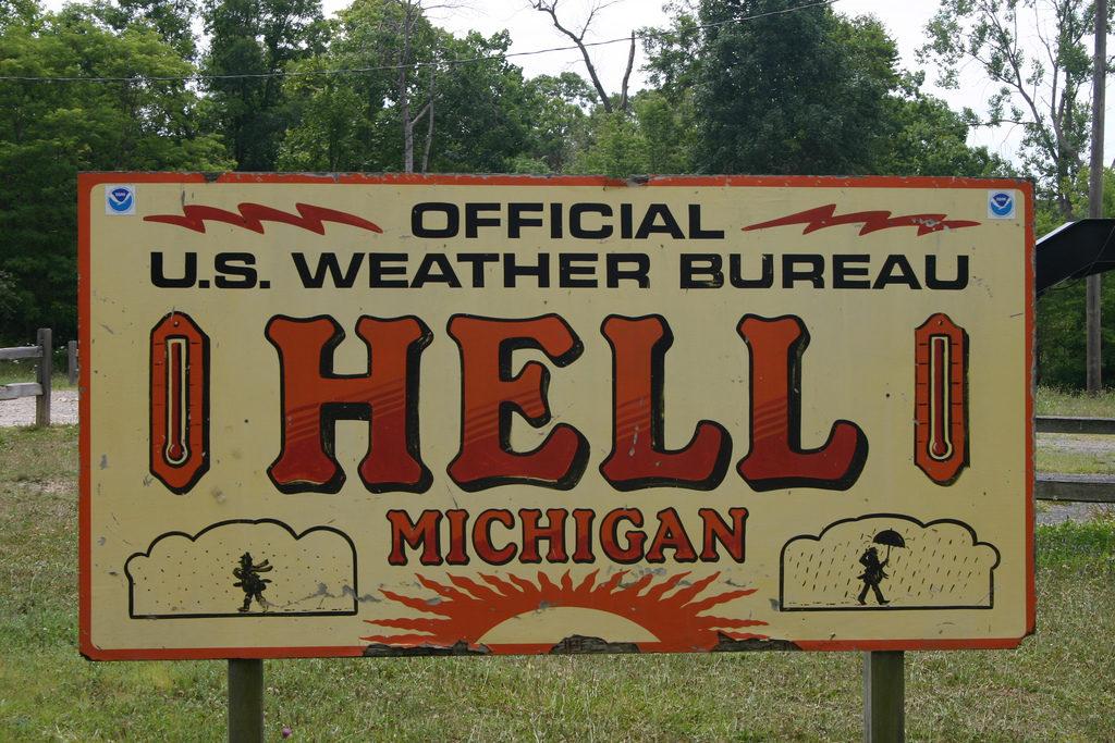 Hell, Imena, Gradovi, Michigan
