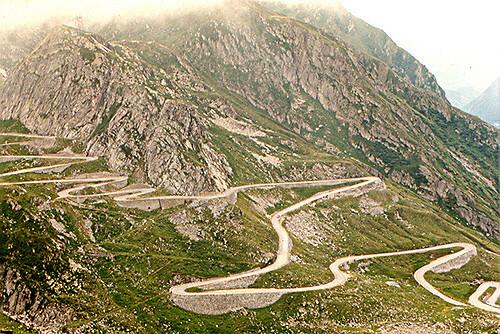 Švicarska, ceste