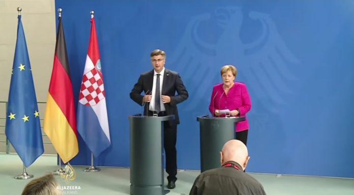 Merkel, Plenković, Schengen