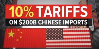 Amerika, Kina, trgovinski rat