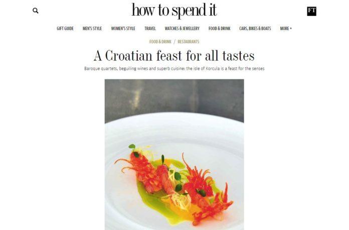 financial times, hrvatska, turizam, korcula, gastronomija