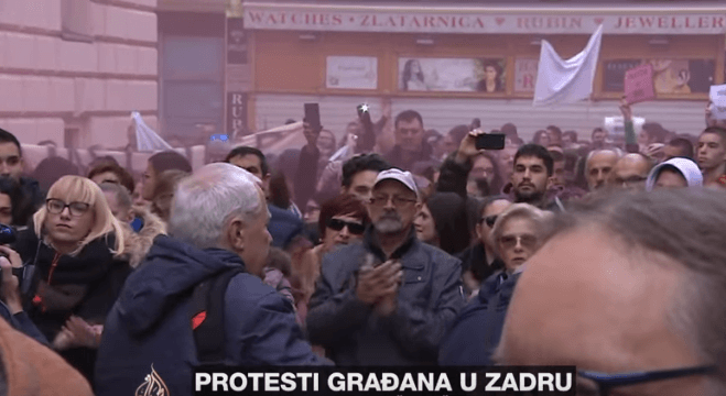 Zadar, prosvjed, pravosuđe