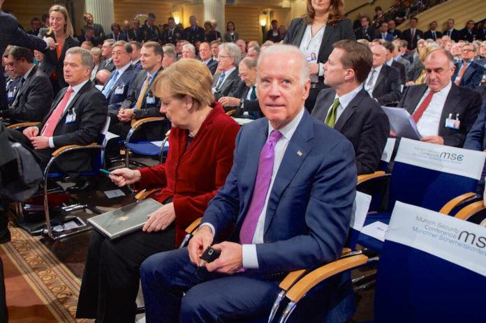 Merkel, Biden