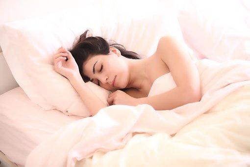 djevojka, spavanje