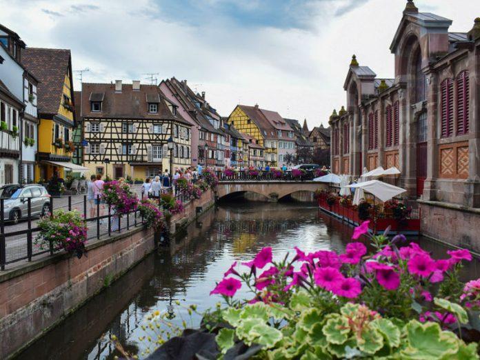 Colmar Francuska, kuće i riječni kanal